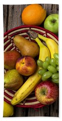 Fruit Basket Hand Towel by Garry Gay