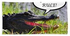 Gators Rule Greeting Card Hand Towel by Al Powell Photography USA