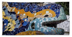 Gaudi Dragon Hand Towel by Joan Carroll