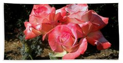 Gemini Tea Rose Hand Towel by Kaye Menner