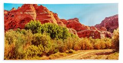 Getting The Sun In Canyon De Chelly Hand Towel by Dr Bob Johnston