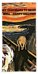 Ghosts Of The Past Hand Towel by John Malone
