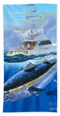 Giant Bluefin Off00130 Hand Towel by Carey Chen