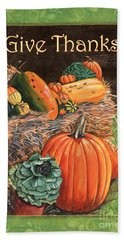 Give Thanks Hand Towel by Debbie DeWitt
