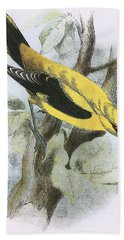 Golden Oriole Hand Towel by English School
