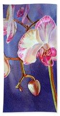 Gorgeous Orchid Hand Towel by Irina Sztukowski