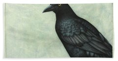 Grackle Hand Towel by James W Johnson