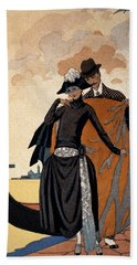 Her And Him Fashion Illustration Hand Towel by Georges Barbier