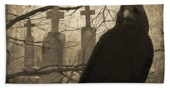 Her Graveyard Hand Towel by Gothicrow Images