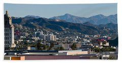 High Angle View Of A City, Beverly Hand Towel by Panoramic Images