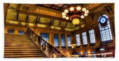 Hoboken Terminal Hand Towel by Anthony Sacco
