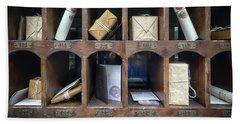 Hogsmeade Owl Post Office Hand Towel by Edward Fielding
