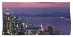 Hong Kong China Hand Towel by Panoramic Images