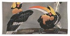 Hornbills Hand Towel by Ethleen Palmer