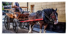 Horse And Cart Hand Towel by Adrian Evans