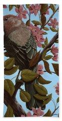 House Finch Hand Towel by Rick Bainbridge