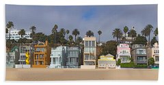 Houses On The Beach, Santa Monica, Los Hand Towel by Panoramic Images