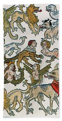 Human Monsters 1493 Hand Towel by Photo Researchers