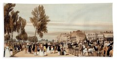 Hyde Park, Towards The Grosvenor Gate Hand Towel by Thomas Shotter Boys