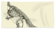 Iguanodon Hand Towel by English School