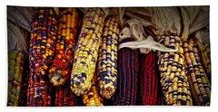 Indian Corn Hand Towel by Elena Elisseeva