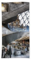 Inside The Louvre Museum In Paris Hand Towel by Marianna Mills