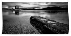 Jetty To Castle Stalker Hand Towel by Dave Bowman