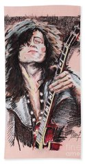 Jimmy Page Hand Towel by Melanie D