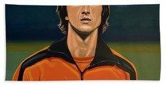 Johan Cruyff Oranje Hand Towel by Paul Meijering