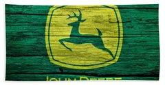 John Deere Barn Door Hand Towel by Dan Sproul