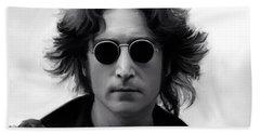 John Lennon Hand Towel by Paul Tagliamonte