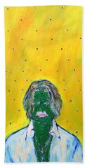 Johnny And Many Flies Hand Towel by Fabrizio Cassetta