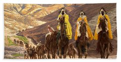 Journey Of The Magi Hand Towel by Tissot