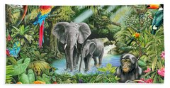 Jungle Hand Towel by Mark Gregory