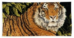 Jungle Monarch Hand Towel by Rick Bainbridge