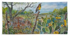 Meadowlark Hand Towel by Don Hand