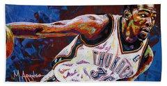 Kevin Durant Hand Towel by Maria Arango