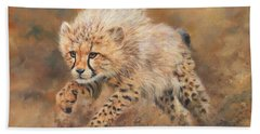 Kicking Up Dust 3 Hand Towel by David Stribbling