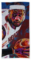 King James Hand Towel by Maria Arango