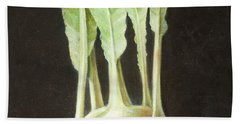 Kohl Rabi, 2012 Acrylic On Canvas Hand Towel by Lincoln Seligman