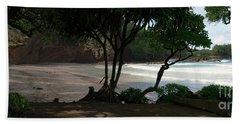 Koki Beach Hana Maui Hawaii Hand Towel by Sharon Mau