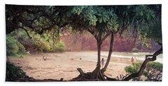 Koki Beach Kaiwiopele Haneo'o Hana Maui Hikina Hawaii Hand Towel by Sharon Mau