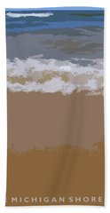 Lake Michigan Shoreline Hand Towel by Michelle Calkins