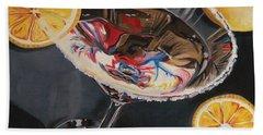 Lemon Drop Hand Towel by Debbie DeWitt