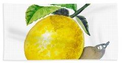 Lemon Hand Towel by Irina Sztukowski