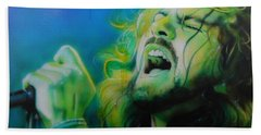 Eddie Vedder - ' Lemon Yellow Sun ' Hand Towel by Christian Chapman Art