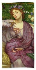 Lesbia And Her Sparrow Hand Towel by Sir Edward John Poynter