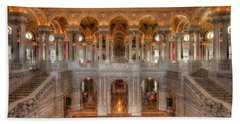 Library Of Congress Hand Towel by Steve Gadomski