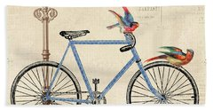 Life Is A Beautiful Ride Hand Towel by Jean Plout