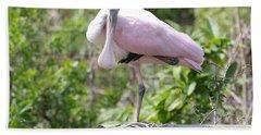 Light Pink Roseate Spoonbill Hand Towel by Carol Groenen
